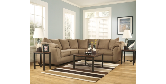 Darcy Sectional in Mocha