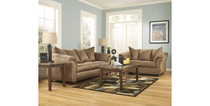 Darcy Sofa and Love Seat in Mocha