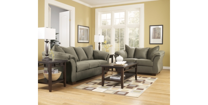 Darcy Sofa and Love Seat in Sage