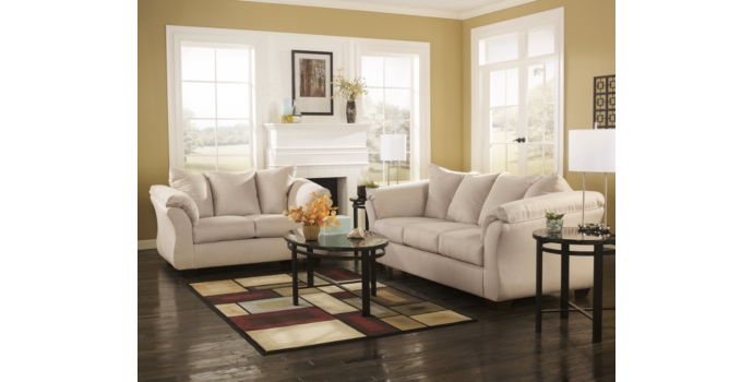 Darcy Sofa and Love Seat in Stone